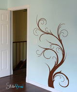 Vinyl Wall Decal Sticker Floral Swirl Plant #550