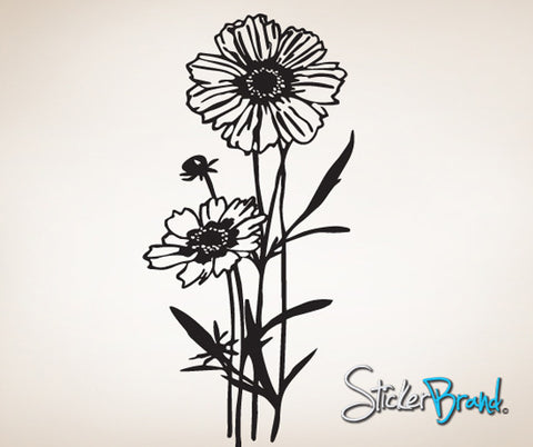 Vinyl Wall Decal Sticker Flower Blossoming #785
