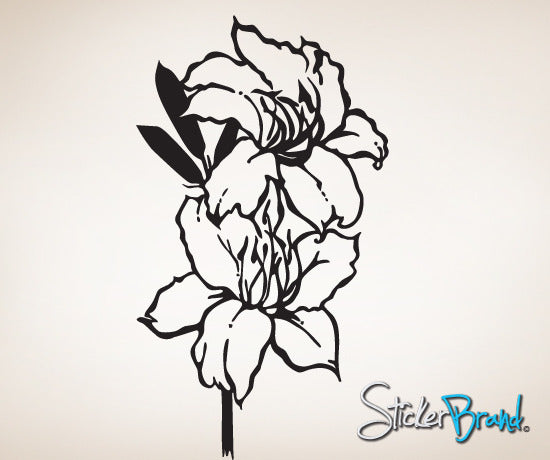 Vinyl Wall Decal Sticker Flowers #786