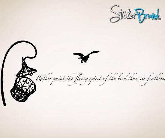 Vinyl Wall Decal Sticker Bird Inspirational Phrase #BRitzel101