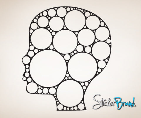 Vinyl Wall Decal Sticker Abstract Head Circle Art #CSJean101