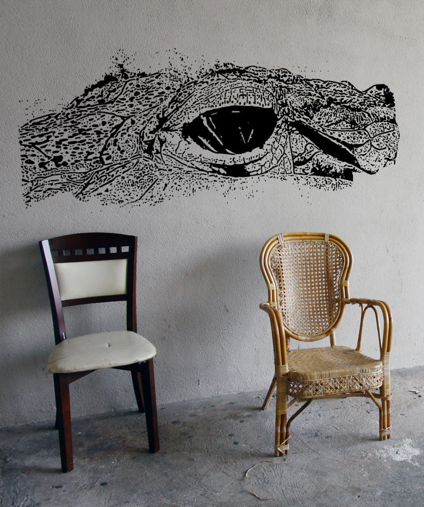 Vinyl Wall Decal Sticker Crocodile Eye #5513