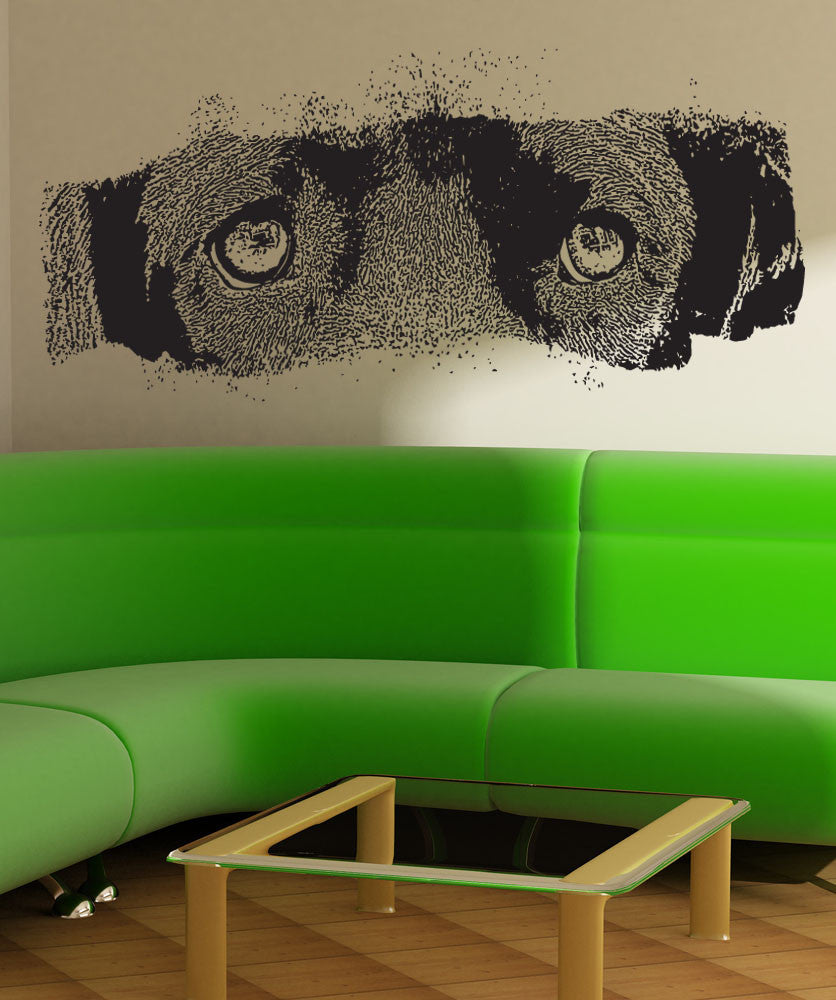 Vinyl Wall Decal Sticker Dog Eyes #5515