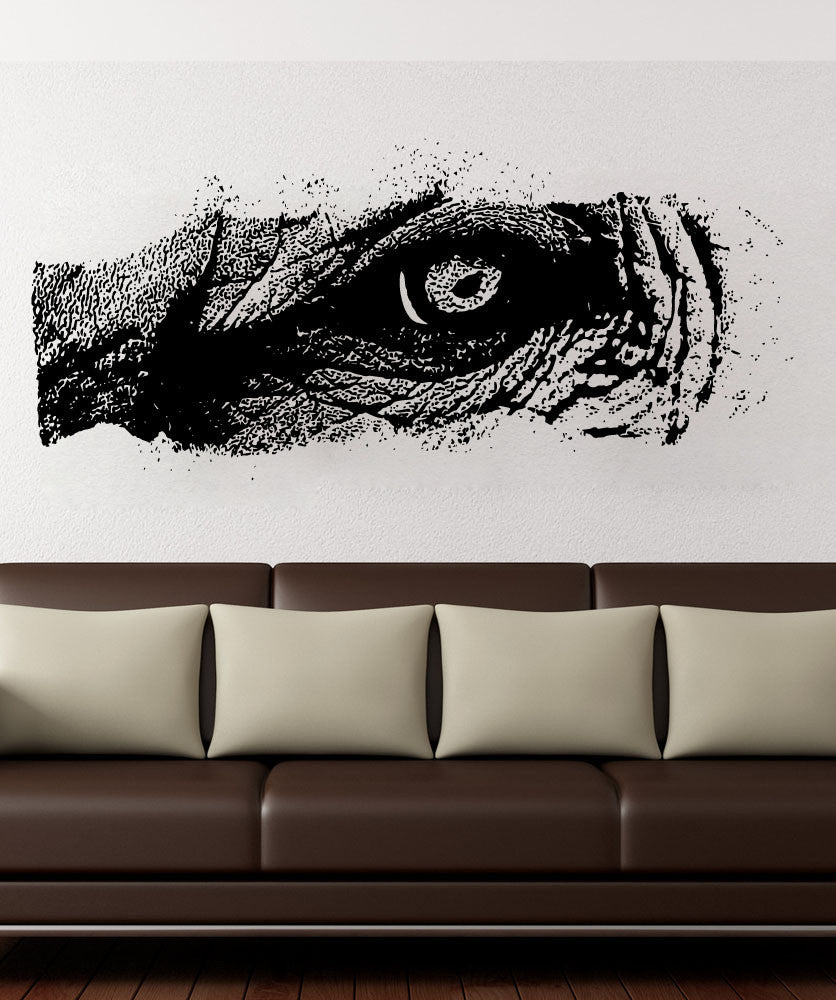Vinyl Wall Decal Sticker Elephant Eye #5519