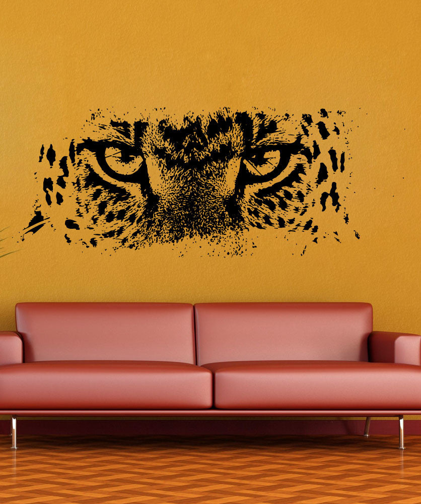 & Vinyl Wall Decal Sticker Leopard Eyes #5522