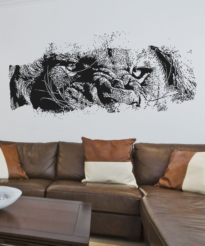 & Vinyl Wall Decal Sticker Lion Eyes #5523