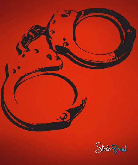 Vinyl Wall Decal Sticker Handcuffs #552