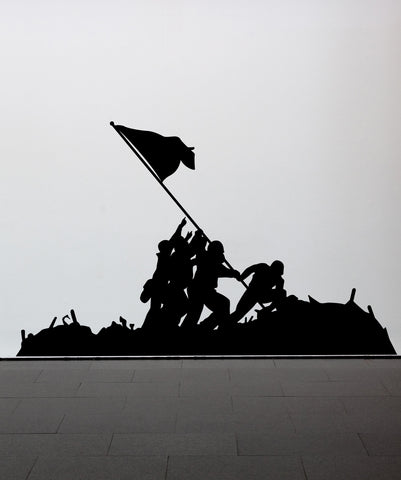 Battle of Iwo Jima Wall Decal. Flag Raising Design. #555