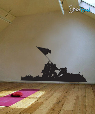 VinylWall Decal Sticker Battle of Iwo Jima Flag Raising #555