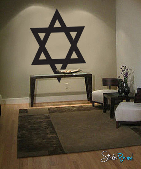 Vinyl Wall Decal Sticker Jewish Star of David #557