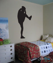 Vinyl Wall Decal Sticker Baseball Pitcher #559