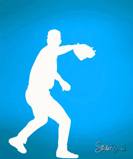 Vinyl Wall Decal Sticker Baseball Pitcher #558