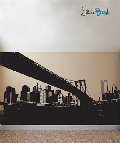 Vinyl Wall Decal Sticker NYC Brooklyn Bridge New York #570