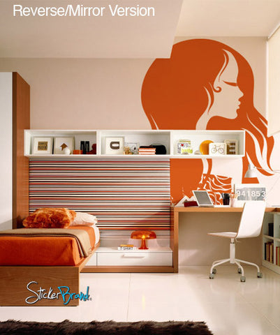 Vinyl Wall Decal Sticker Stylist Hair #572