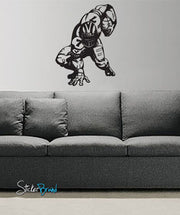 Vinyl Wall Decal Sticker Football Hike #574