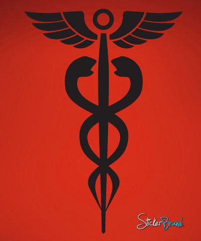 Vinyl Wall Decal Sticker Medical Caduceus Health #583