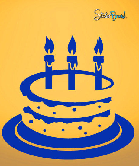 Vinyl Wall Decal Sticker Birthday Cake #585