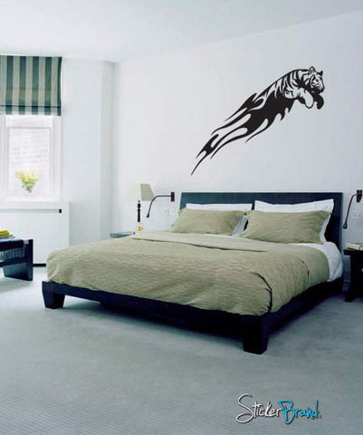 Vinyl Wall Decal Sticker Tiger Tribal #587