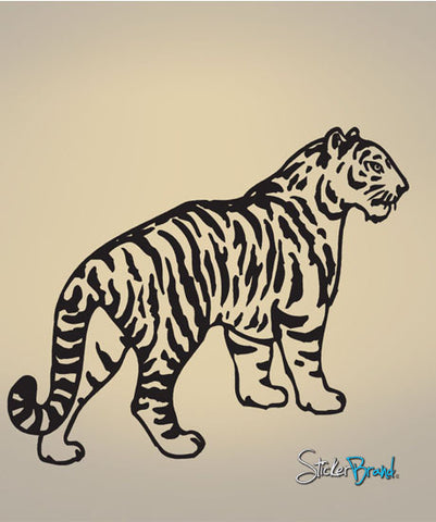 Vinyl Wall Decal Sticker Tiger Stripes #590