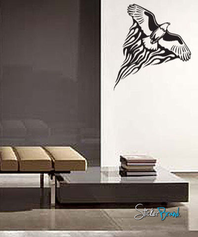 Vinyl Wall Decal Sticker Eagle Soaring Tribal #592