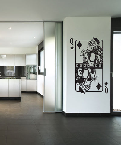 Vinyl Wall Decal Sticker Queen of Diamonds #OS_DC362