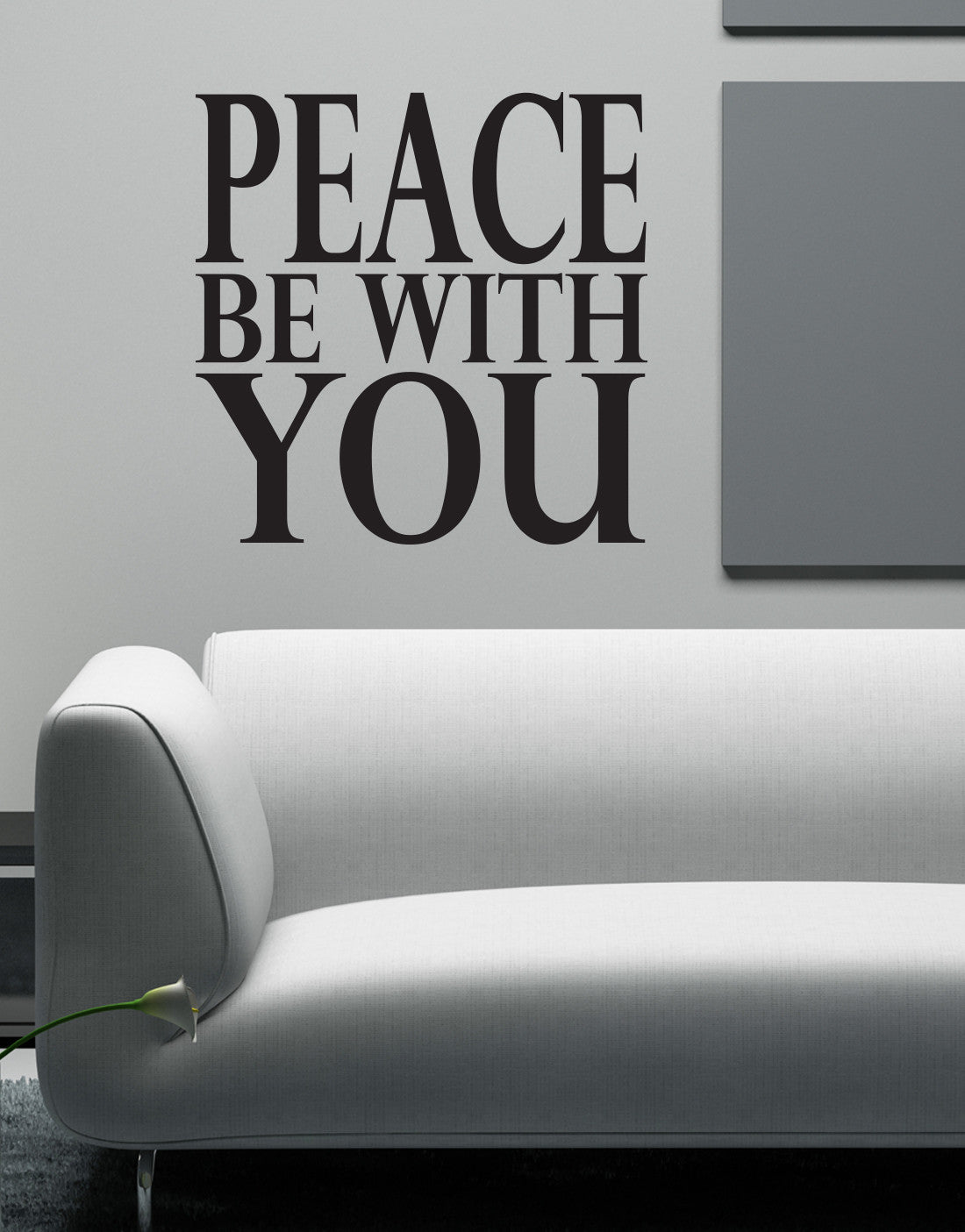 Vinyl Wall Decal Sticker Peace Be With You Quote 6004