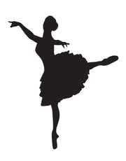 Ballerina Dancer Posing Wall Decal. #605