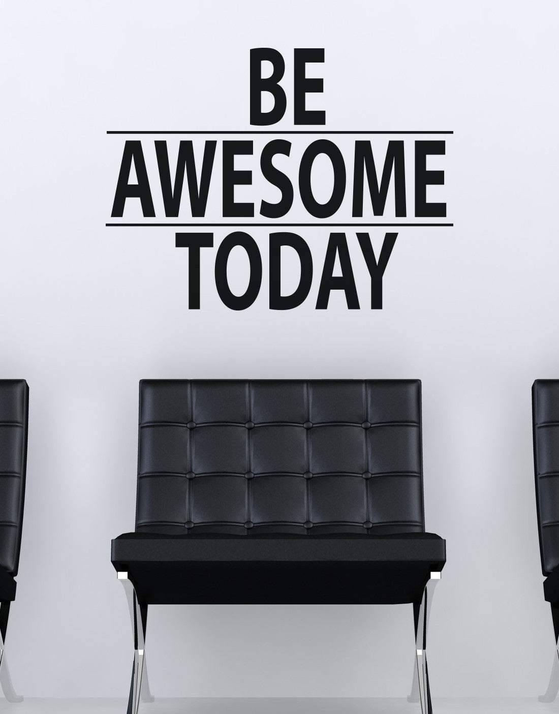 Beautiful Be Awesome Today Motivational Quote Wall Decal Sticker #6013