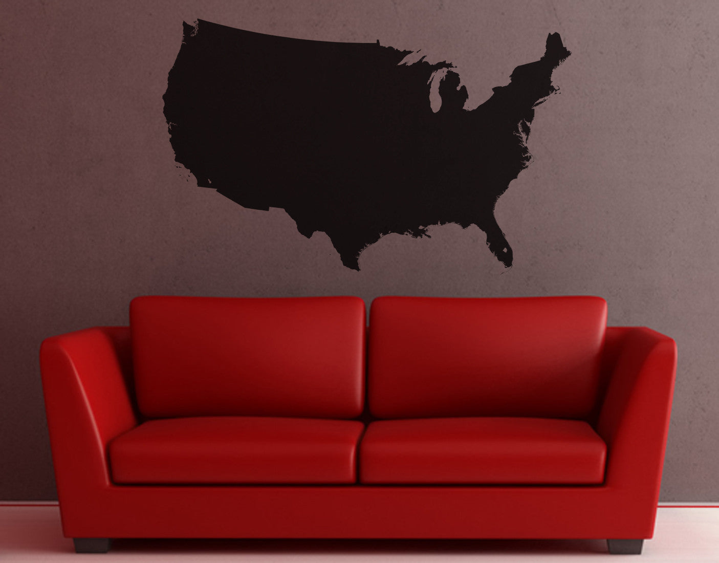 united states of america usa map vinyl wall decal 6027