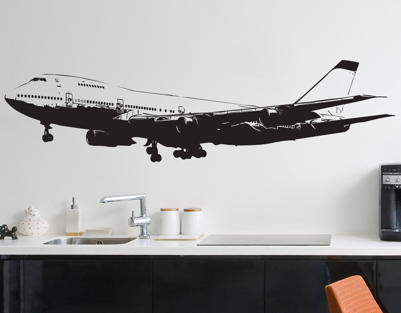 747 airplane vinyl wall decal sticker 6031 for Aircraft decoration