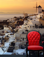 Santorini Greece Sunset Wall Mural #6044