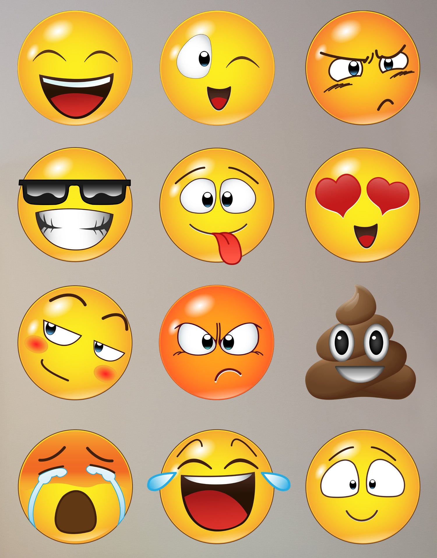 Emoji Wall Decals Emoji Stickers For Wall StickerBrand - Emoji wall decals