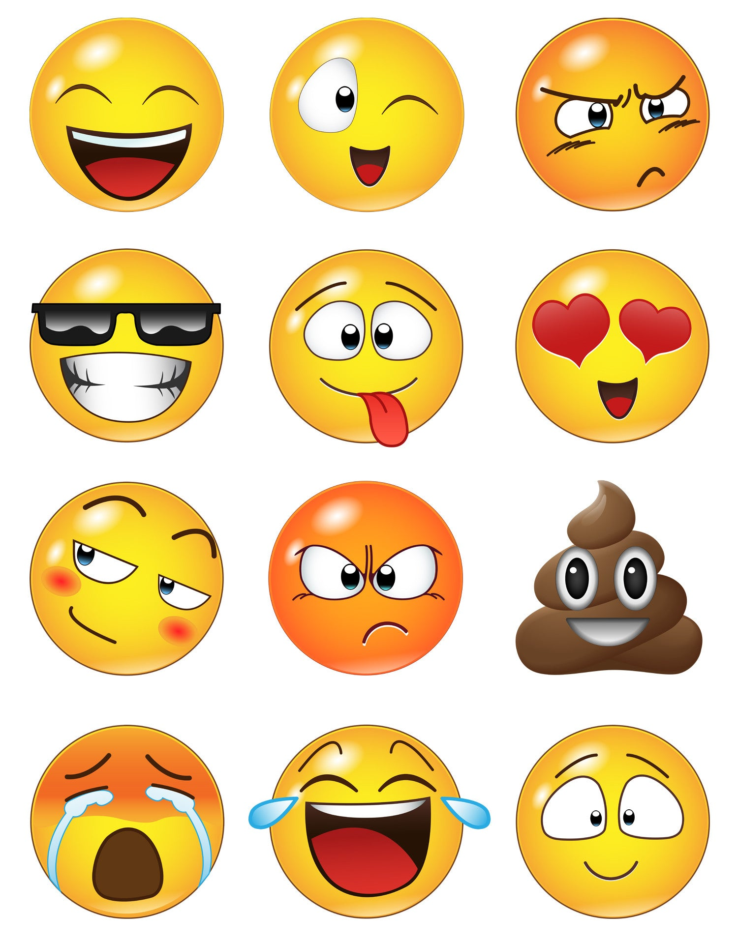 Emoji Wall Decals | Emoji Stickers for Wall | StickerBrand