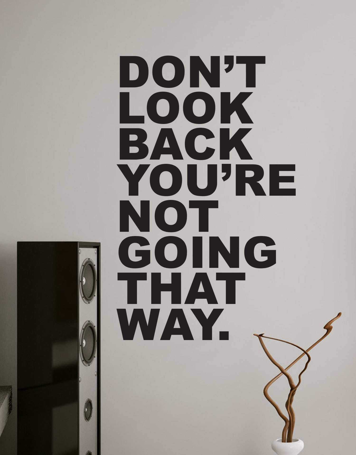 Motivational Quotes Dont Look Back Youre Not Going That Way 6053