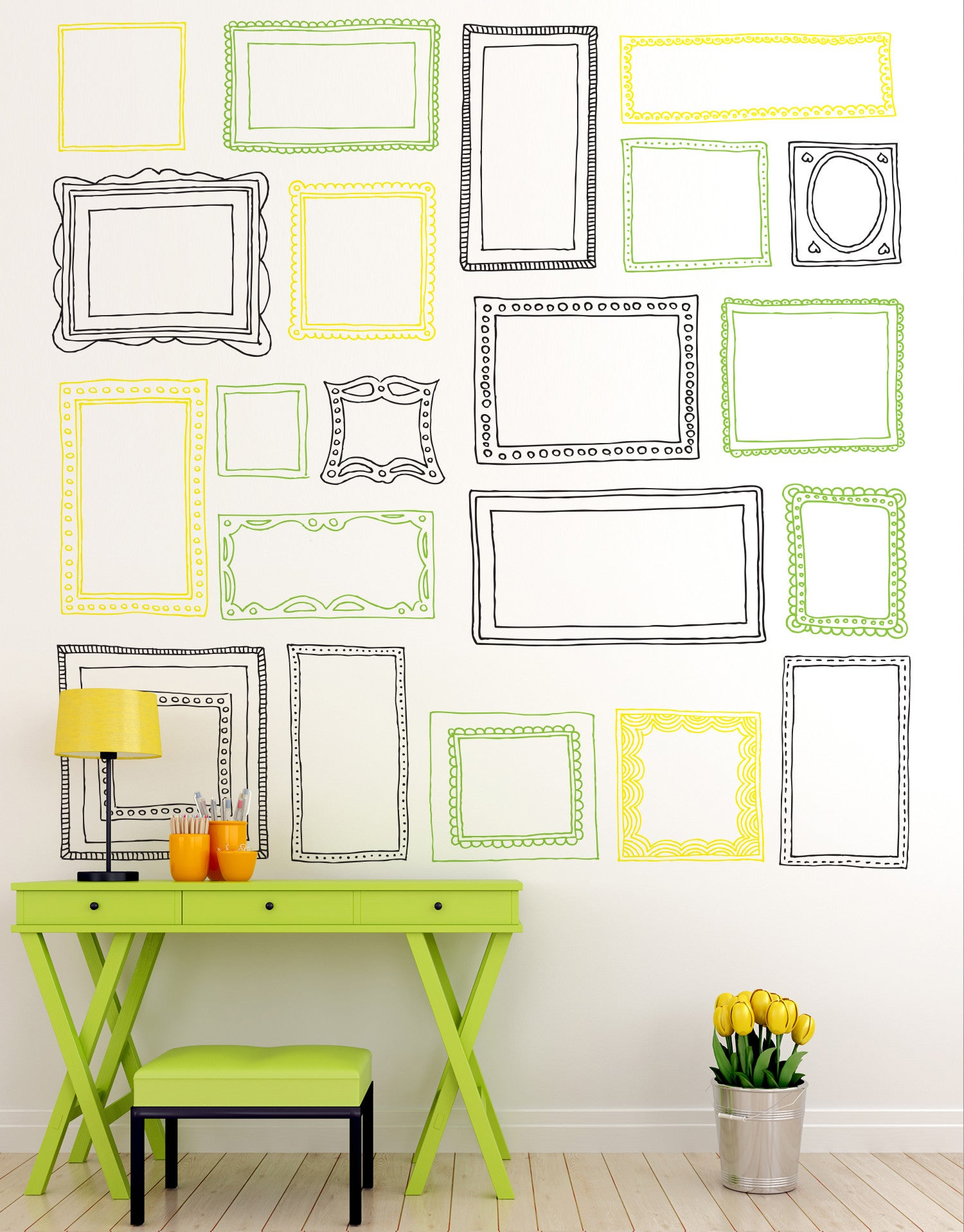 Picture Frame Wall Decals sticker picture frames | wall decal frames | frame decals