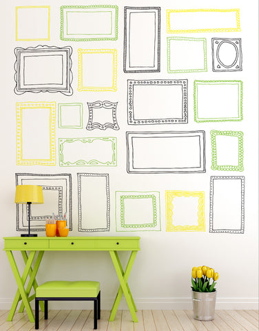 21 Various Picture Frames Vinyl Wall Decal Sticker #6055