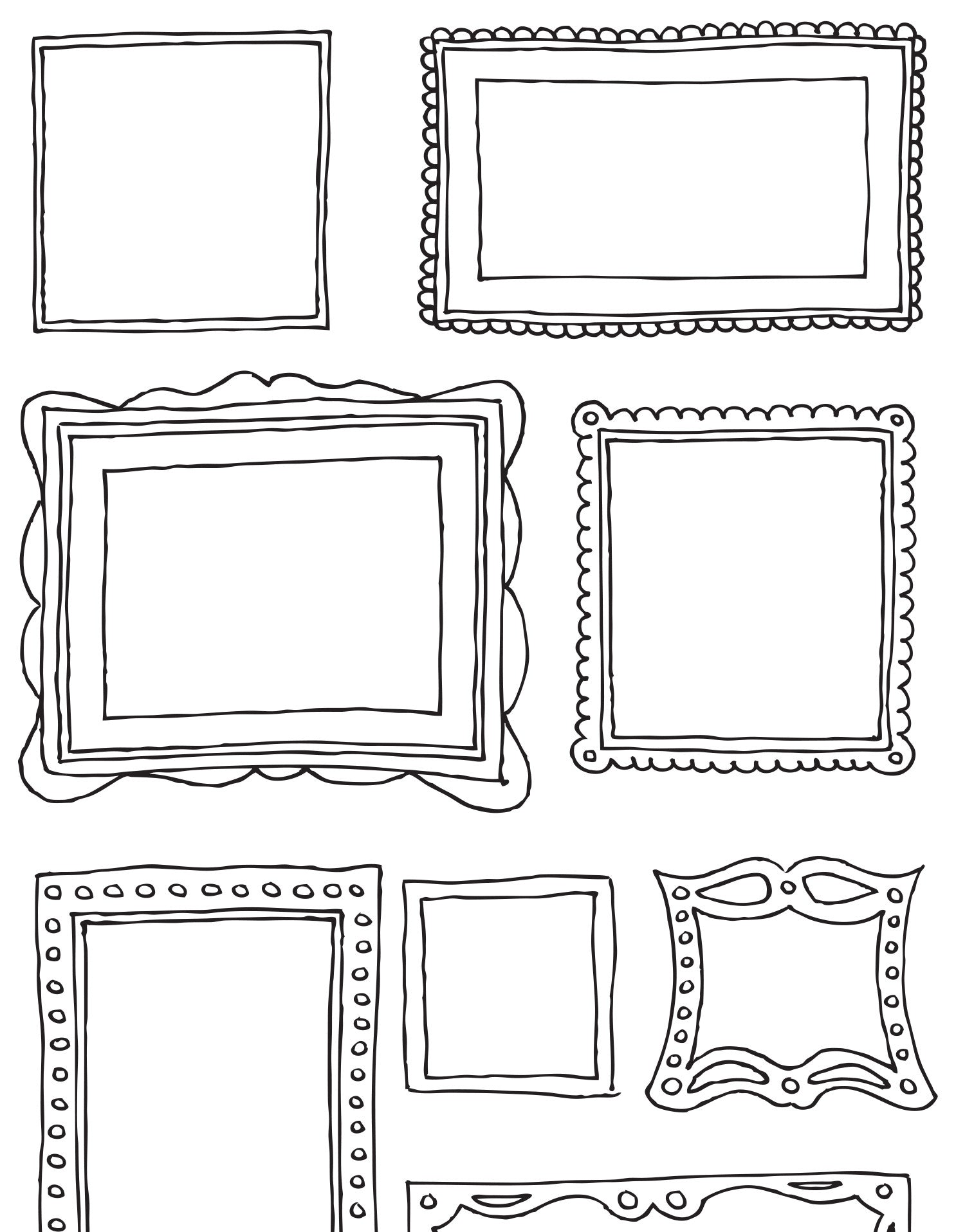 Sticker Picture Frames   Wall Decal Frames   Frame Decals