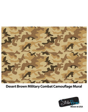 Desert Brown Military Camo Camouflage Wall Mural #6062