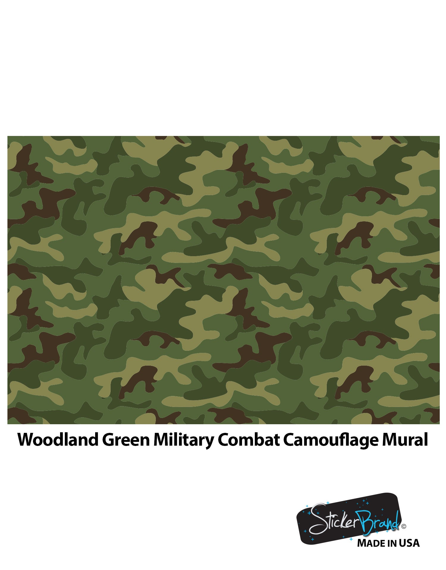 Woodland green military combat camo camouflage wall mural 6064 amipublicfo Choice Image