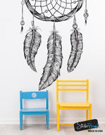 Dream Catcher Feathers Vinyl Wall Decal Sticker #6068