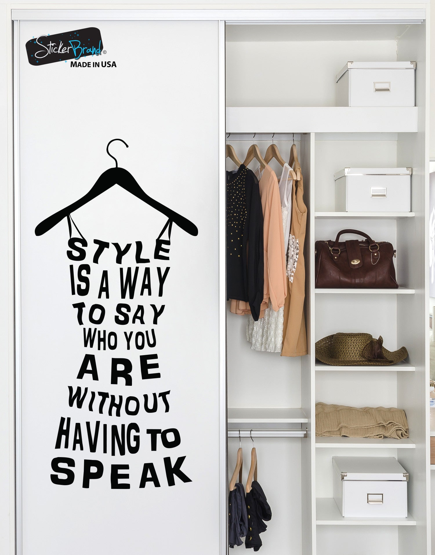 Fashion dress, Style is a way to say who you are quote wall decal #6074