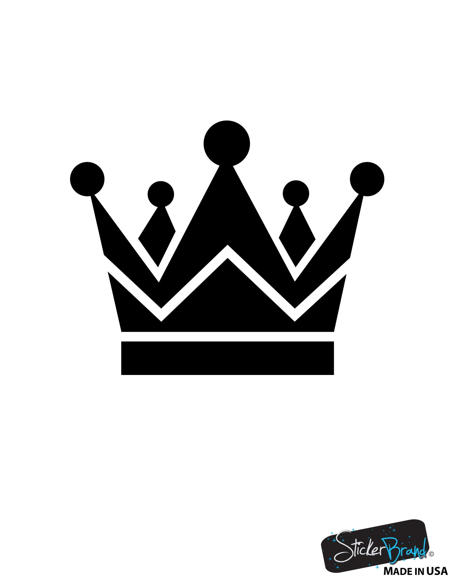 king s crown pattern vinyl wall decal sticker 6076