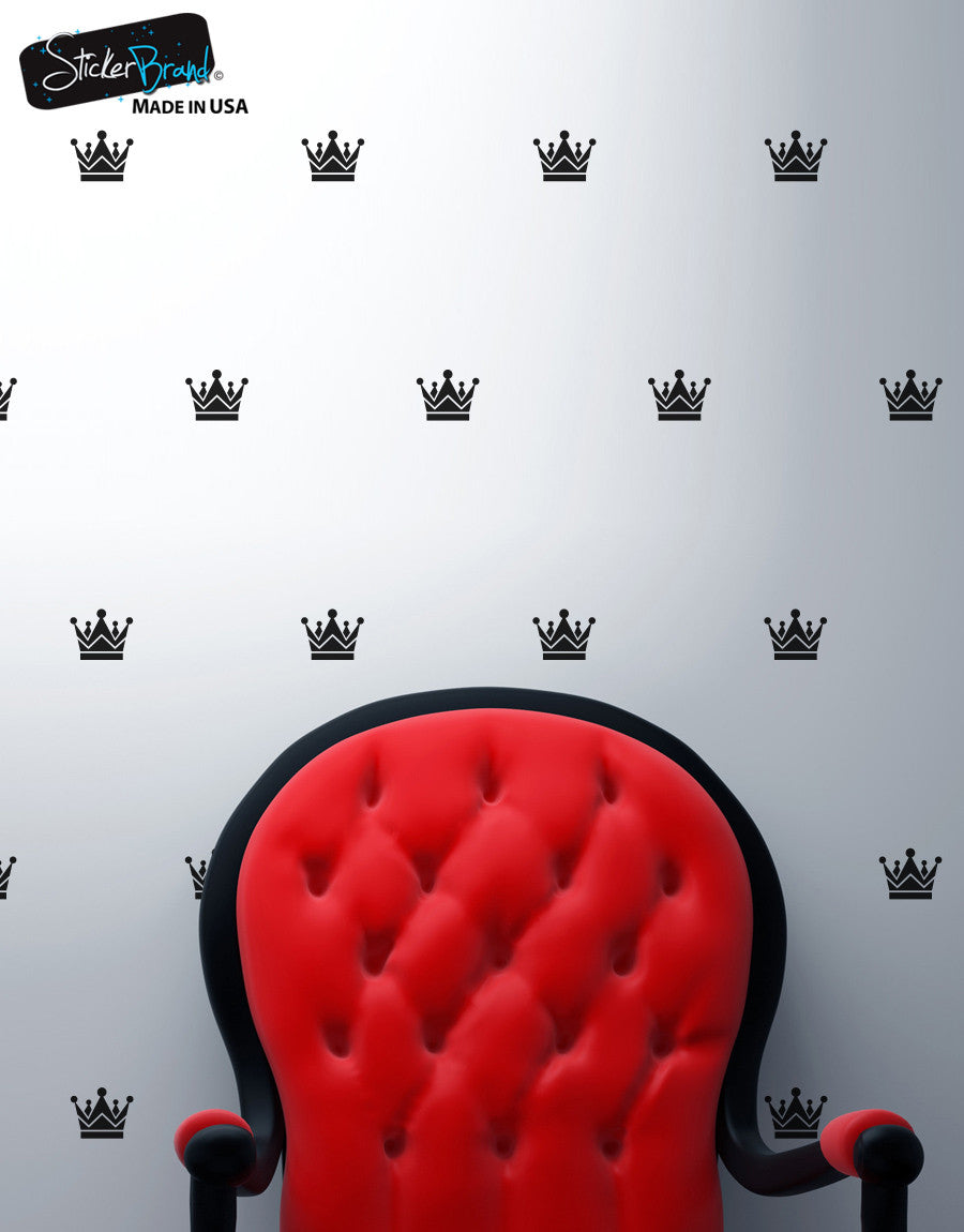 King's Crown Pattern Vinyl Wall Decal Sticker #6076