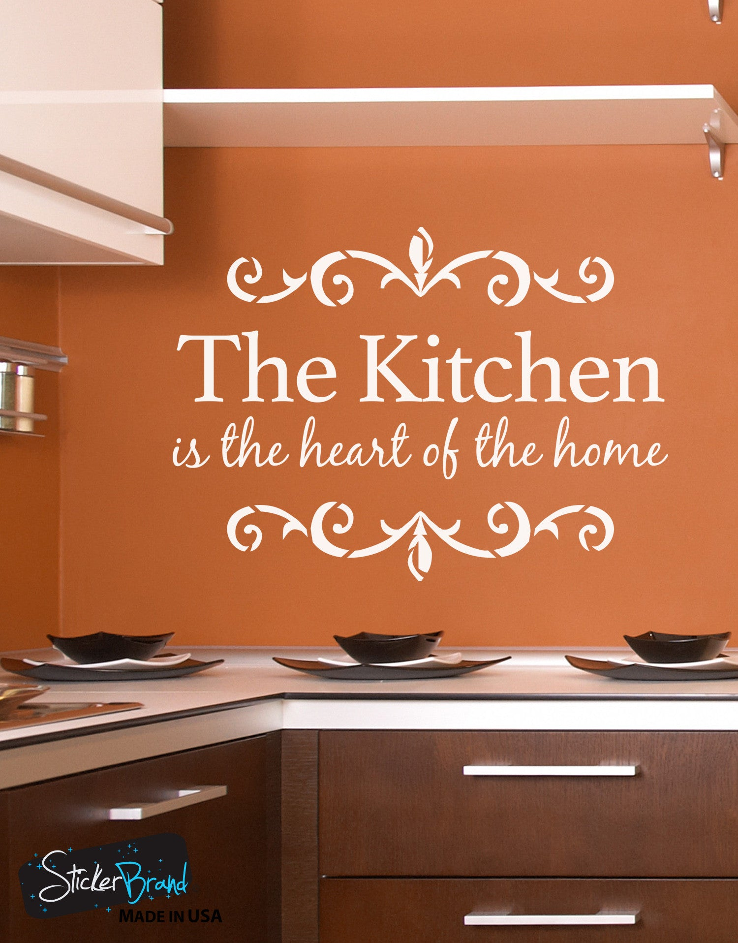 The Kitchen is the Heart of the Home Quote Vinyl Wall