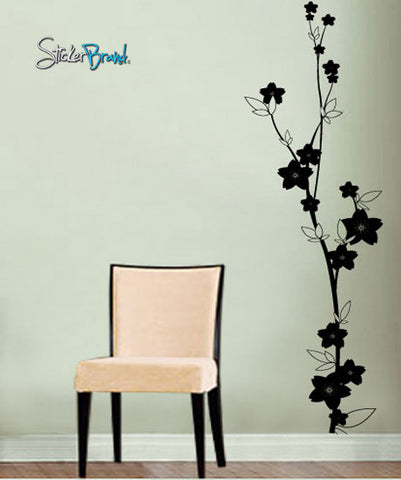 Vinyl Wall Decal Sticker Flowers Floral Decor #607