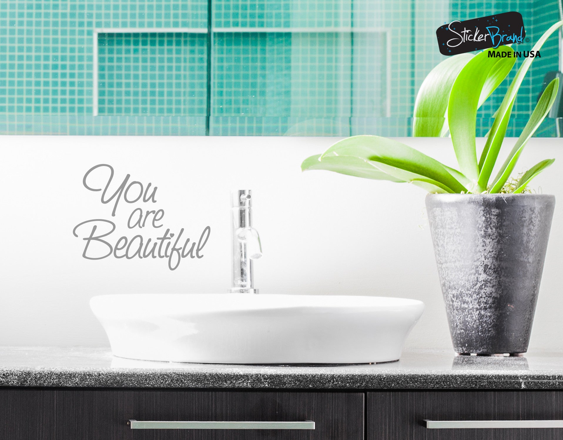 You Are Beautiful Vinyl Decal Sticker For Mirrors Or Walls. Boost Your  Self Esteem With Positive Thinking #6083