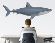 Great White Shark Wall Decal Graphic Sticker Side View #6084