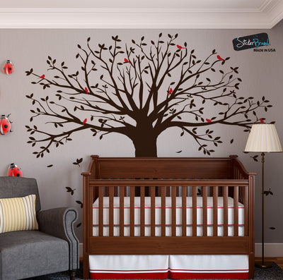 Family Tree with Birds Wall Decal Sticker #6087