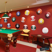 Realistic Color Billiard Balls Wall Decal Sticker #6089
