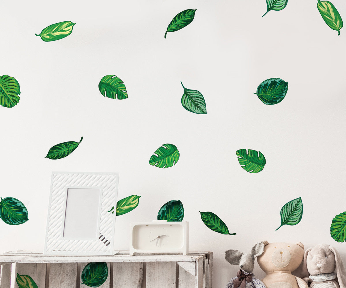 Tropical plant leaves wall decal hawaiian party beach theme decor great for birthdays prom wedding events 6094s